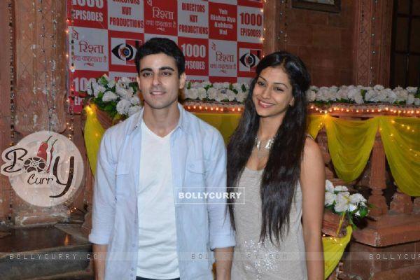 Gautam and Mala at Yeh Rishta 1000 celebration