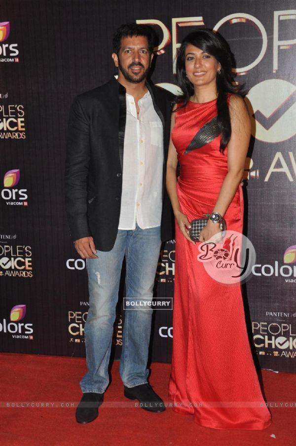 Kabir Khan with wife Mini Mathur at Peoples Choice Awards 2012