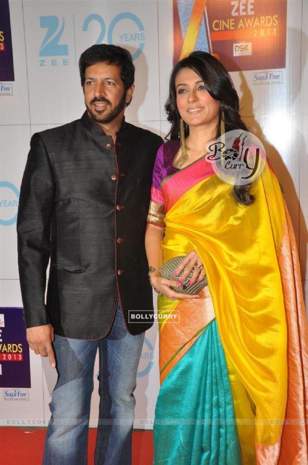 Kabir Khan with wife Mini Mathur at Zee Cine Awards 2013