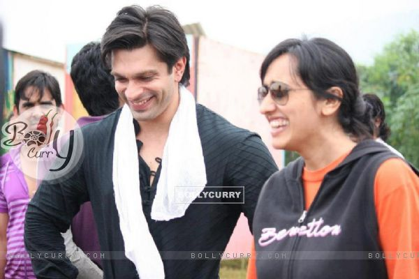 Karan Singh Grover with Gul Khan