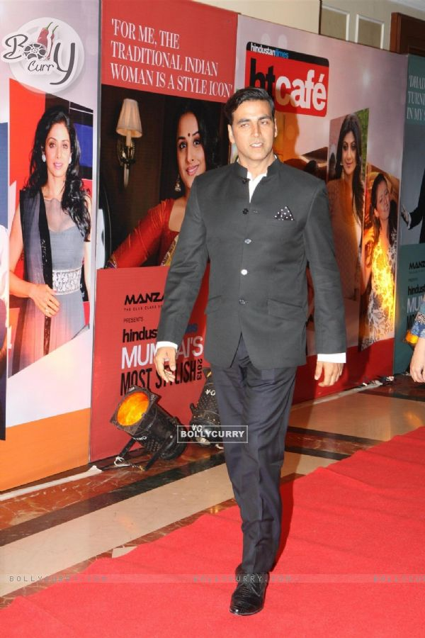 Bollywood actor Akshay Kumar at the Hindustan times Most Stylish Awards 2013 in Hotel ITC Grand Central, Parel, Mumbai on Thursday, February 6th, evening.