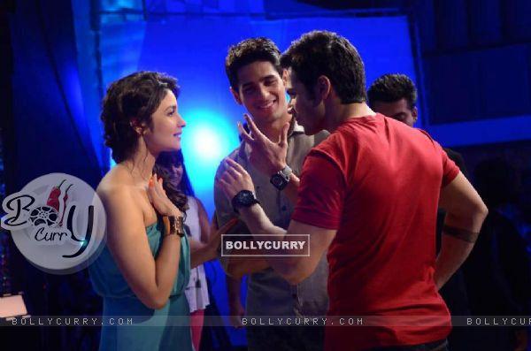 Varun, Sidharth and Alia