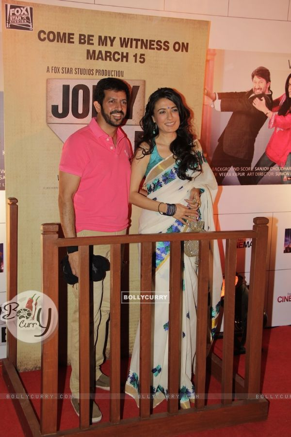 Kabir Khan with wife Mini Mathur at Premiere of movie Jolly LLB (271750)