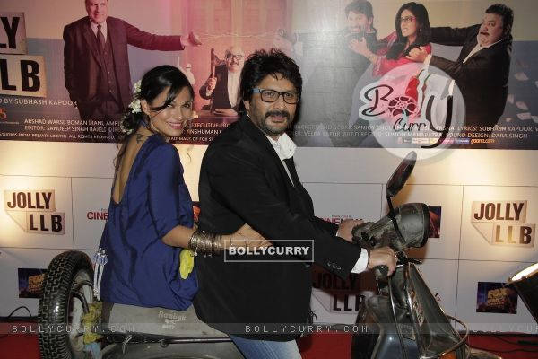 Arshad Warsi and Maria Goretti at Premiere of movie Jolly LLB (271762)