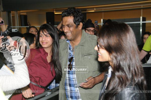 Anurag Basu arrive in Vancouver for TOIFA