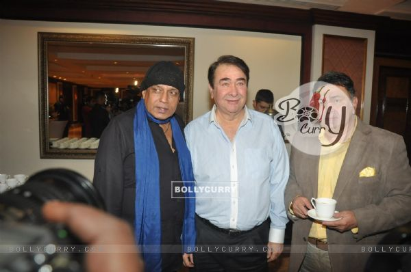 Mithun Chakravarty, Randhir Kapoor and Rishi Kapoor at the Unveiling of the Statue of Rajesh Khanna
