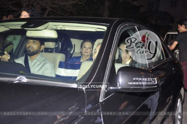 Dilip Kumar with wife Saira Banu arrives at Shahrukh Khan's Grand Eid Party at Mannat