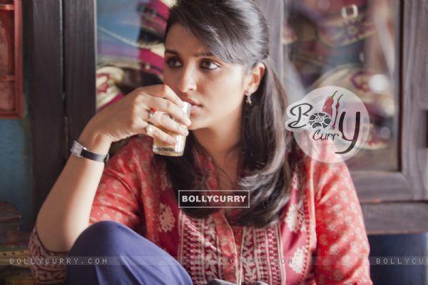 Parineeti Chopra sips at tea