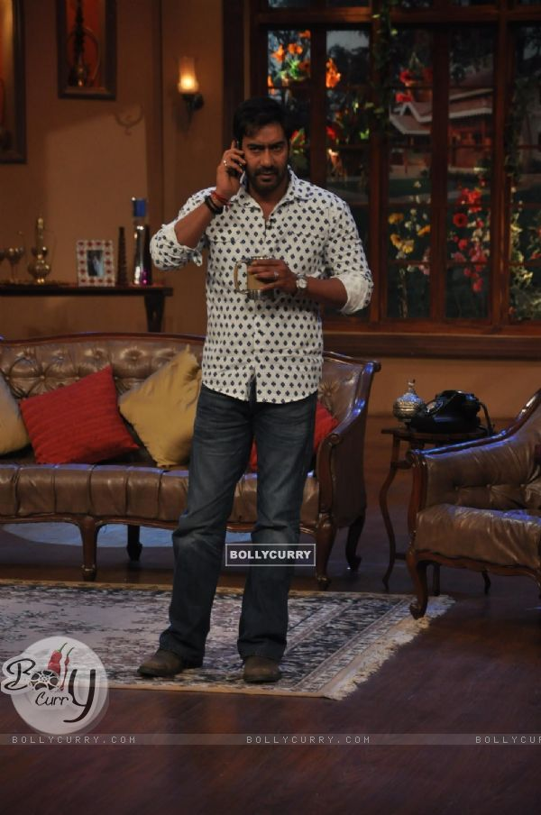 Ajay Devgn at Satyagraha's  Promotion on Comedy Nights with Kapil (292074)