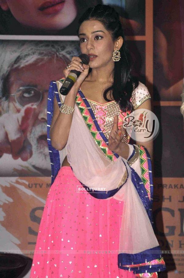 Amrita Rao at Satyagraha movie team during the promotion