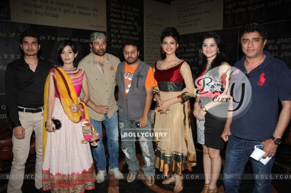 Urvashi Rautela, Sunny Deol, Amrita Rao and Anjali Abrol at the First look of  Singh Saab The Great