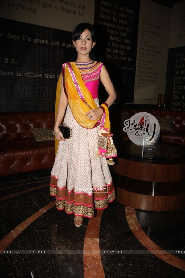Amrita Rao was seen in a ethnic look at the First look of Singh Saab The Great
