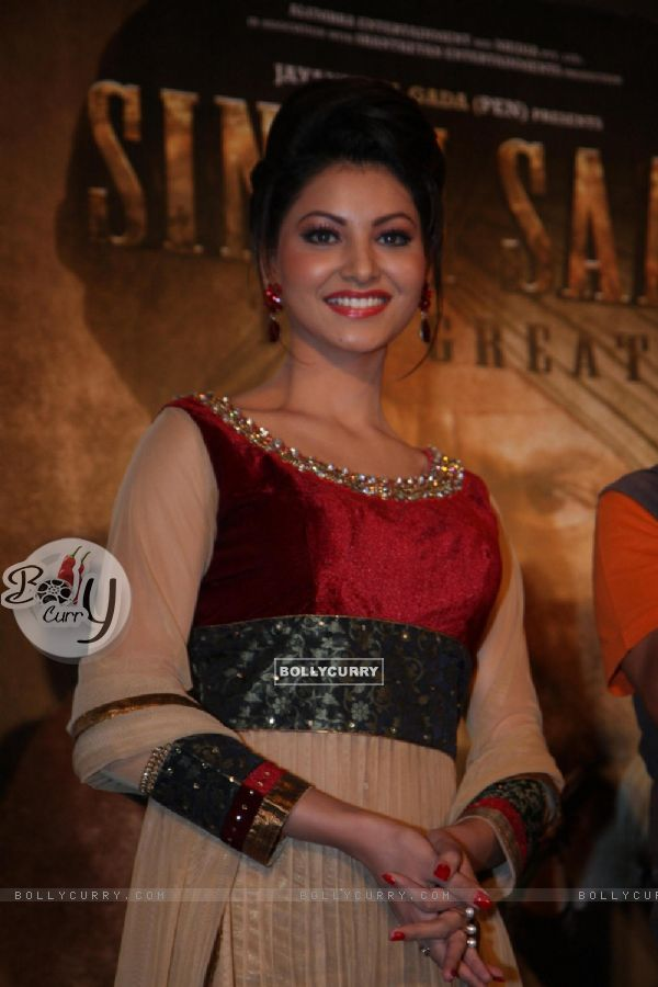 Urvashi Rautela at the  First look of Singh Saab The Great