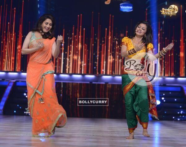 Drashti Dhami and Madhuri Dixit Nene