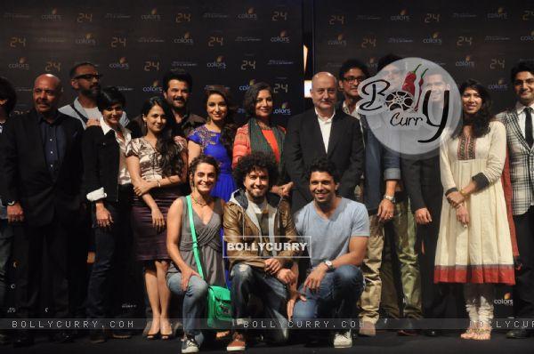The cast of '24' - Press meet