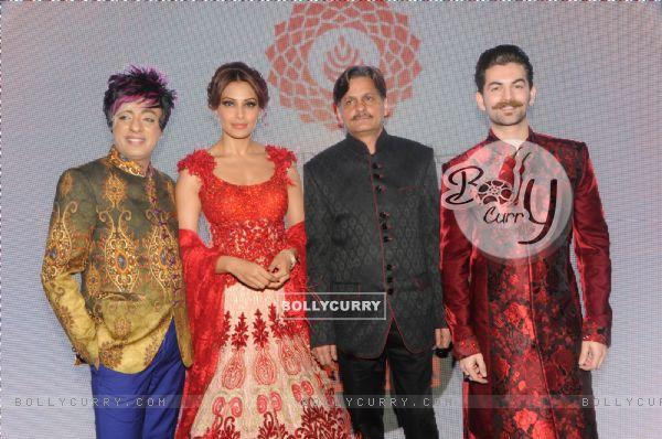 Rohhit Verma with Bipasha Basu and Neil Nitin Mukesh at the Fashion Show