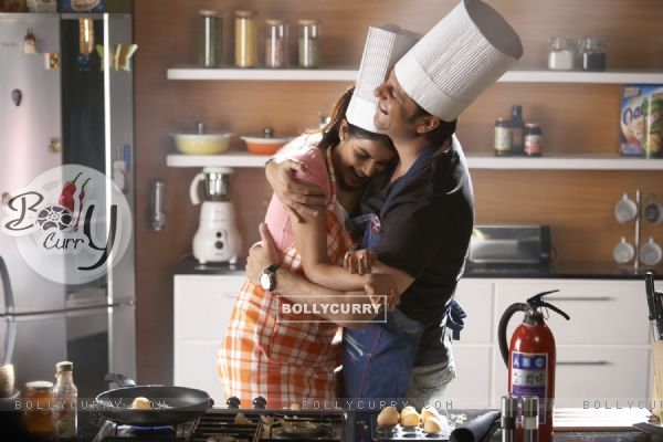A still of Genelia Dsouza and Fardeen Khan in Life Partner movie