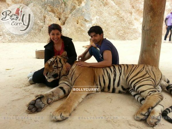 Gurmeet Choudhary with wife Debina Bonerjee Choudhary