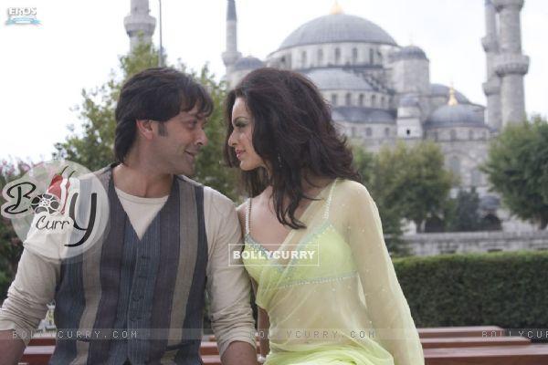 A still image of Bobby Deol and Kangna Ranaut