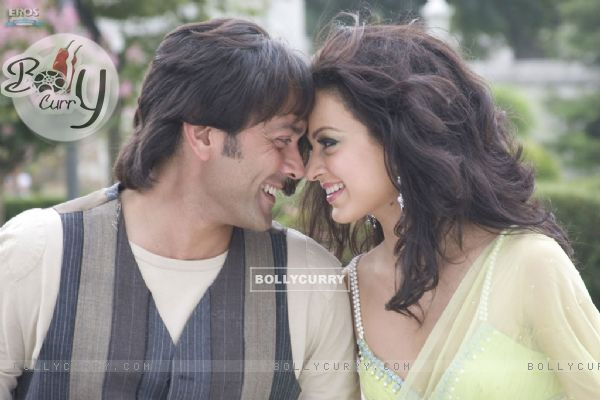Lovable scene of Bobby and Kangna