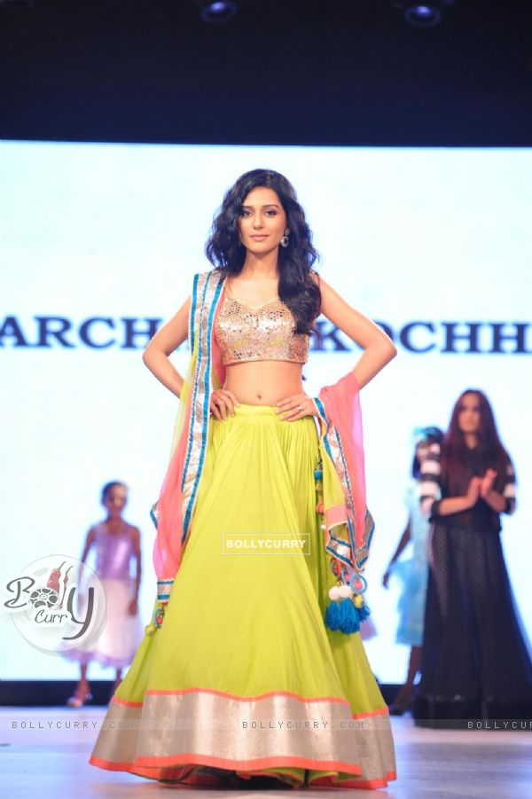 Amrita Rao at the charity fashion show 'Ramp for Champs'