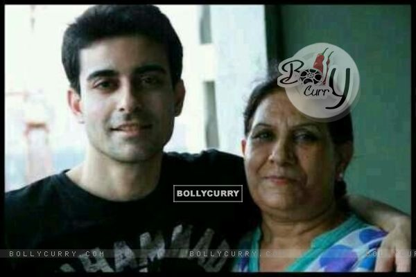 Gautam Rode with his Mom
