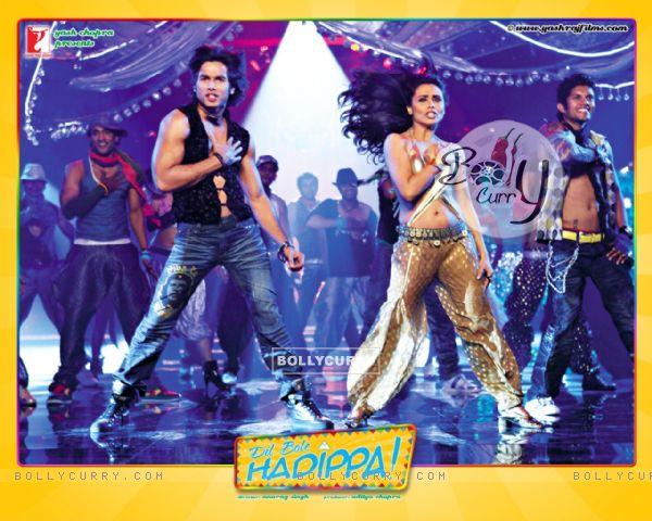 Dil Bole Hadippa movie wallpaper with Shahid and Rani