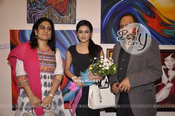 Mishti at the inaugration an Art Exhibition