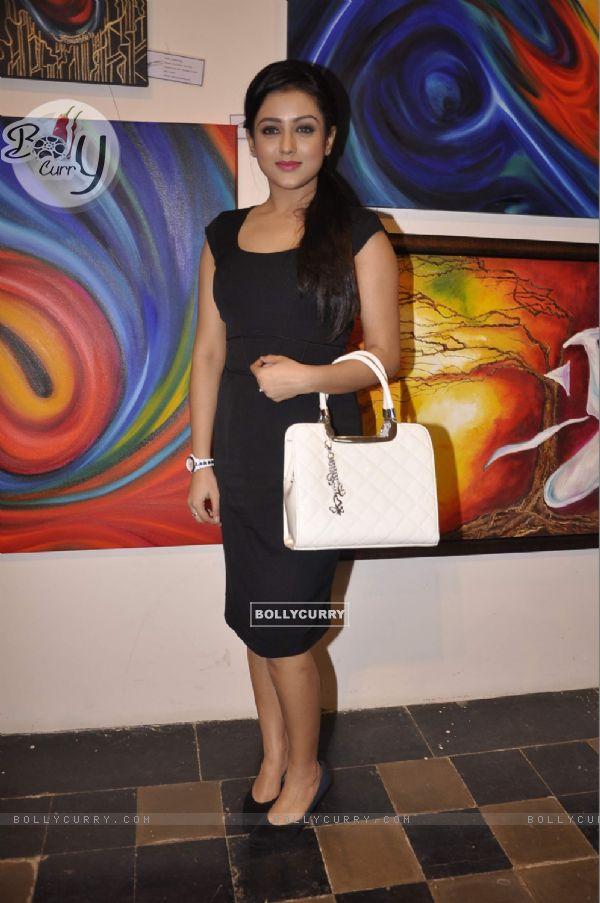 Mishti at the Art Exhibition