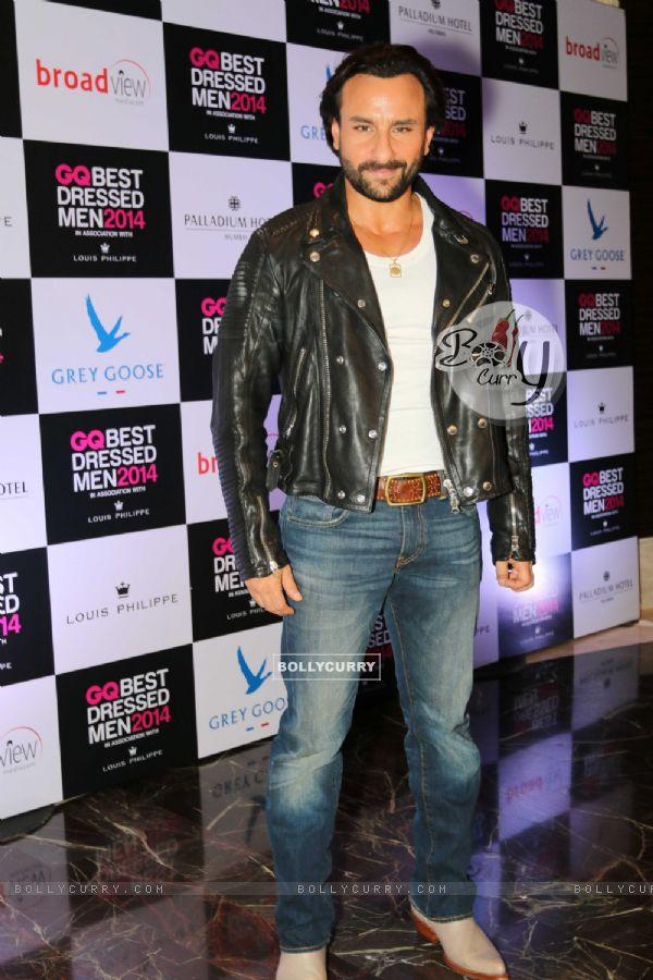Saif Ali Khan at the GQ Best Dressed Men 2014