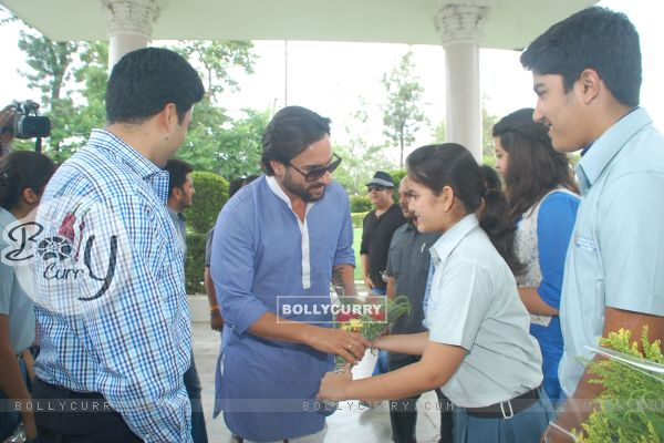 Saif felicitated at a city school
