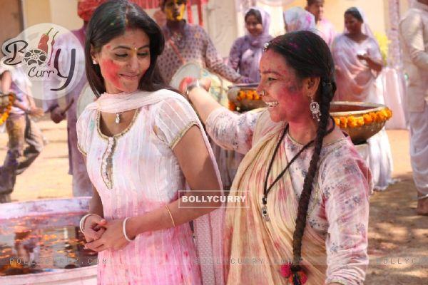 Hina Khan and Sunita Rajwar