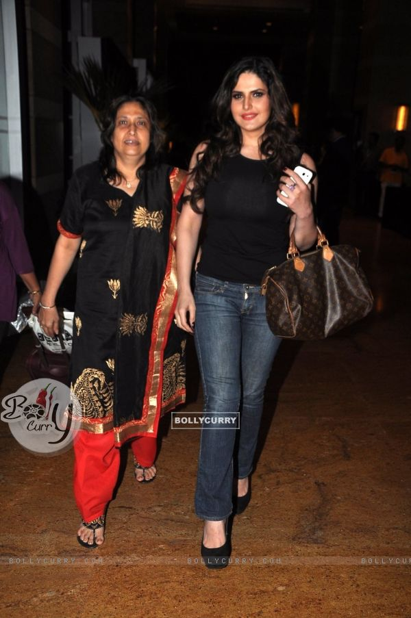 Zarine Khan with her mother