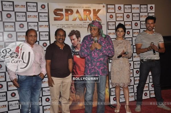 Ranjeet addresses the media at the Trailer Launch of Spark