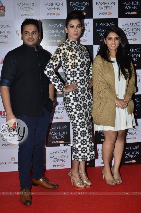 Gauahar Khan was at the Announcement of Lakme Fashion Week Summer Resort 2014