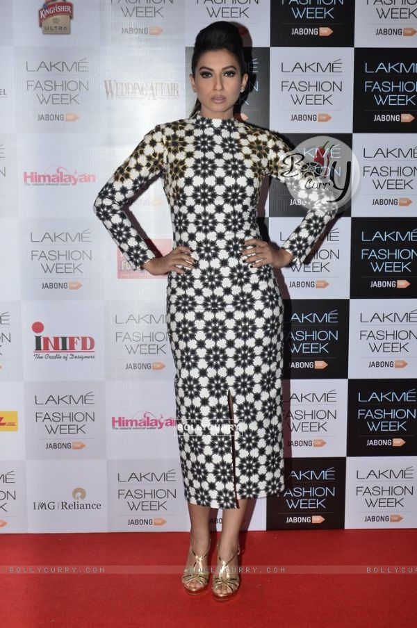 Gauahar Khan was at the Announcement of Lakme Fashion Week Summer Resort 2014