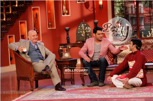 Anupam Kher in conversation with Kapil Sharma on Comedy Nights With Kapil