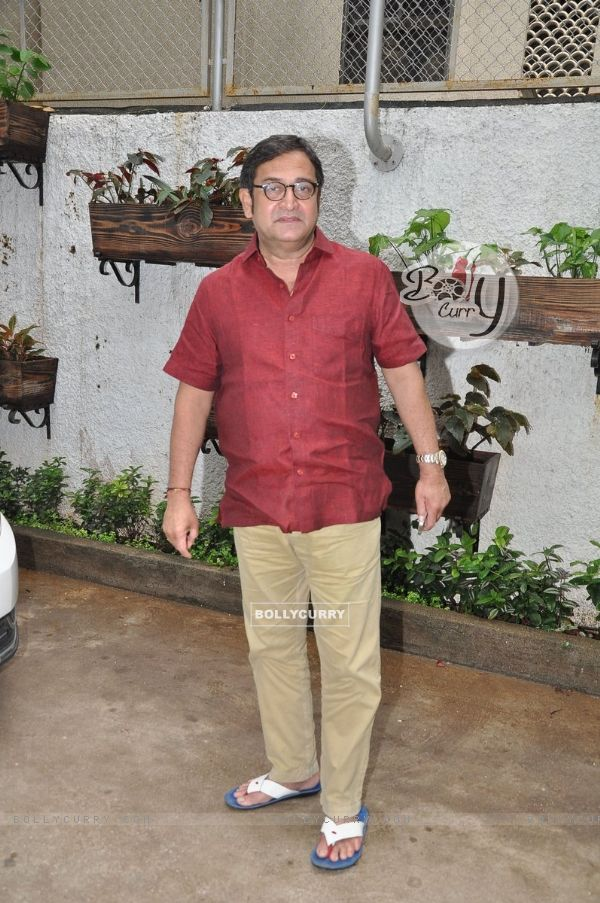 Mahesh Manjrekar poses for the media at the First Look Launch of Baji