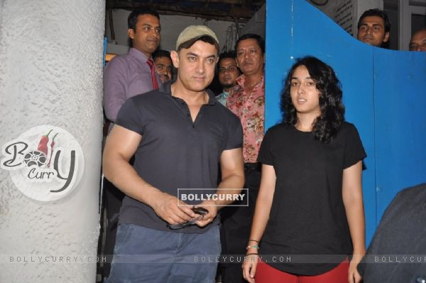Aamir Khan with daughter Ira Khan