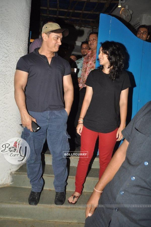Aamir Khan with daughter Ira Khan