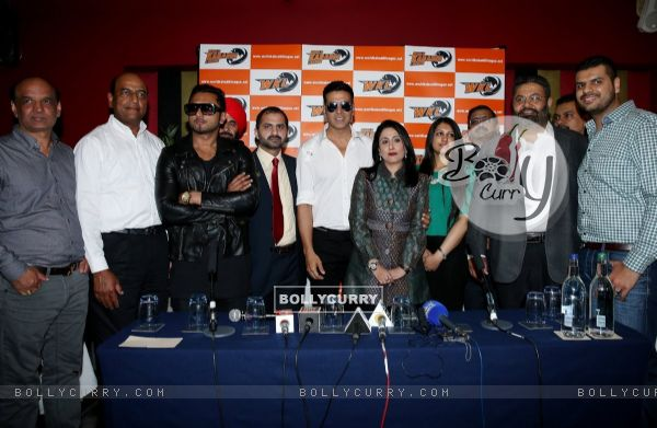 Akshay Kumar and Honey Singh were at the Launch of World Kabaddi League in London