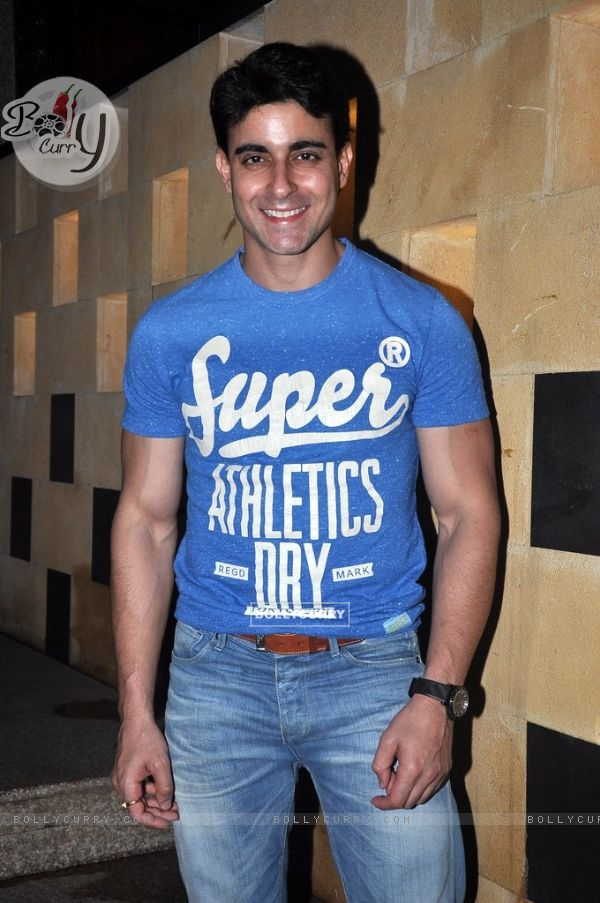 Gautam Rode pose for the media at Melissa Pais Birthday Bash