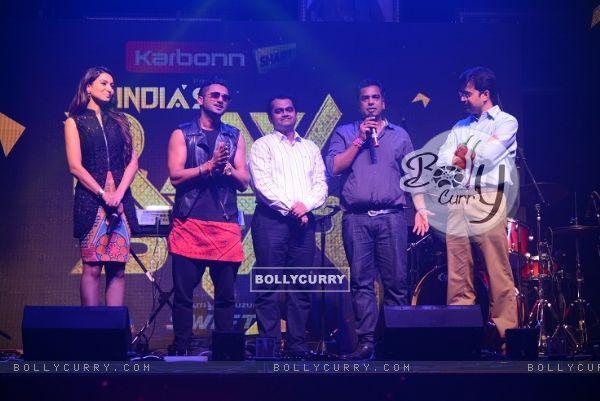 Gauahar Khan, Honey Singh, Ashish Golwankar and Gajendra Singh at the Launch