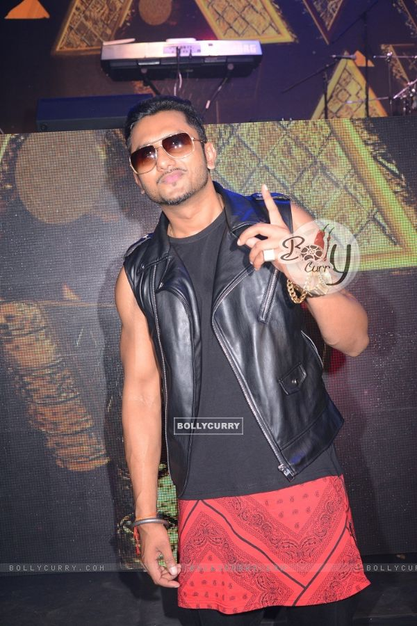 Honey Singh poses for the media at the Launch of India's Raw Star