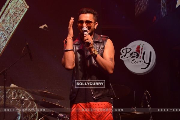 Honey Singh performs at the Launch of India's Raw Star