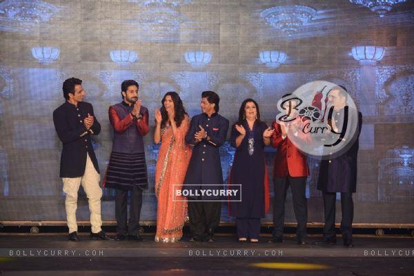 The cast of Happy New Year at Manish Malhotra's Show