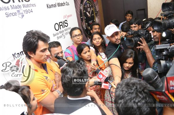 Sonu Sood was seen interacting with the media at KWC Luxurio