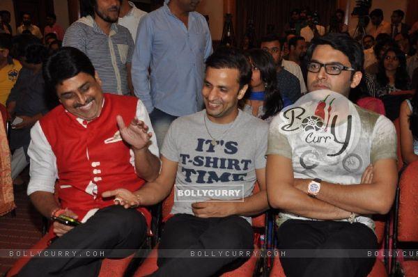 Shailesh Lodha and Rajiv Thakur were seen having a good time at the Album Launch of Marudhar