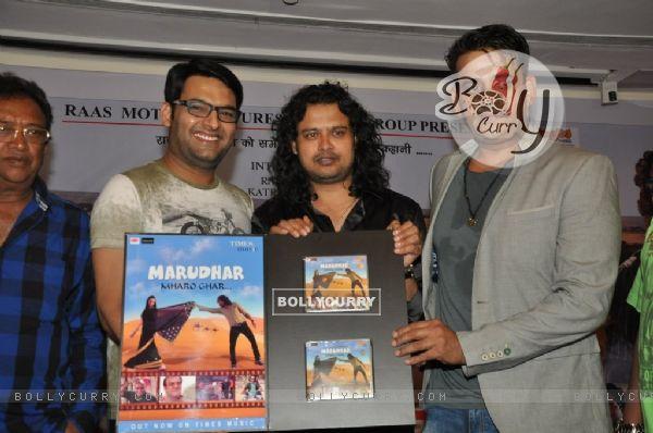 Raja Hasan, Ravi Kissen and Kapil Sharma unveil the Album of Marudhar at the Launch