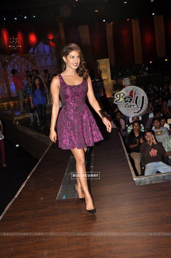 Priyanka Chopra was at the Promotion of Mary Kom on India's Best Cine Stars Ki Khoj